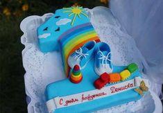 Number Birthday Cakes, Baby First Birthday Cake, Nature Cake, Cake Designs, Birthday Celebration, First Birthdays, Cake Decorating, Baby Kids, Sweets