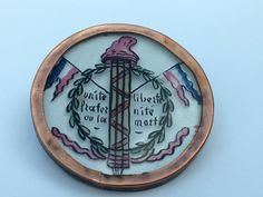ButtonArtMuseum.com - GORGEOUS FRENCH REVERSE PAINTING BUTTON - 1 3/8""