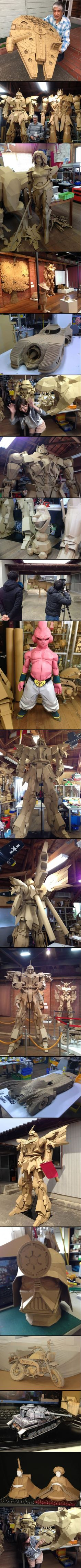 Masahiko Senda, God of Cardboard Art