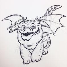#dragon #breaksketch #brushpen #cartoon