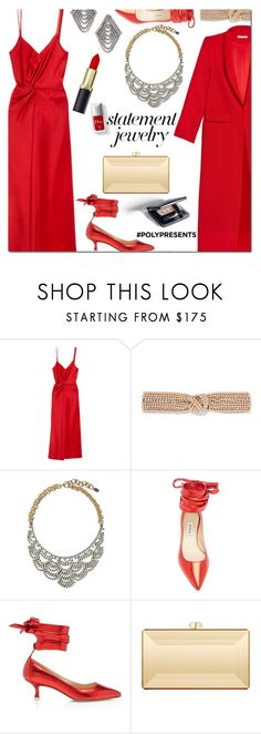 """""""#PolyPresents: Statement Jewelry"""" by danielle-487 ❤ liked on Polyvore featuring T By Alexander Wang, Jennifer Behr, Elizabeth Cole, Seraphina, Attico, Couture Colour, contestentry and polyPresents"""