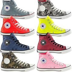 CONVERSE CHUCKS TAYLOR ALL STAR HI Mens Womens High Shoes Sneakers Camo Neo New