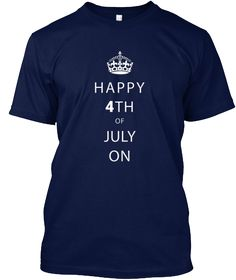 Happy 4th Of July Shopping Navy T-Shirt Front