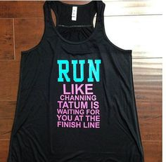 Run Like You Choose Name Is Waiting At The Finish Line Training Gym Tank Top Flowy Racerback Workout Custom Colors You Choose Size & Colors via Etsy