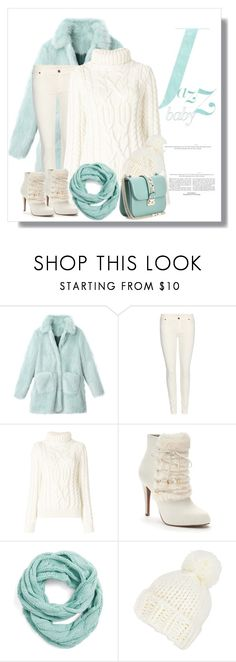 """Faux Fur Coat"" by lorrainekeenan ❤ liked on Polyvore featuring 7 For All Mankind, Moncler Grenoble, Jennifer Lopez, CC and Valentino"