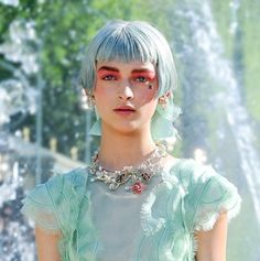 Ethereal alien beauty. Make-up at Chanel Cruise 2013.