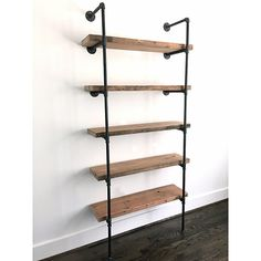 "The ""Bentley"" Bookshelf - Reclaimed Wood Industrial Bookshelf - Reclaimed Wood & Pipe Shelf"
