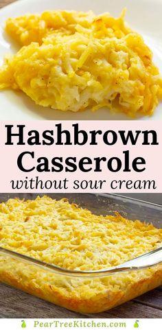 Chicken Hashbrown Casserole, Cheesy Potatoes With Hashbrowns, Cheese Potato Casserole, Cream Cheese Potatoes, Easy Hashbrown Recipes, Cheese Hashbrown Potatoes, Baked Potatoes, Cooking Recipes, Skillet Recipes