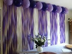 Image result for PURPLE STREAMER WALL