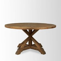 Bleached Pine Round Dining Table...so simple...could recreate this myself easy peasy!!