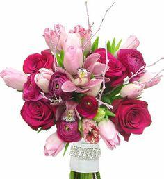 Unique Pink bouquet done by I&F Design