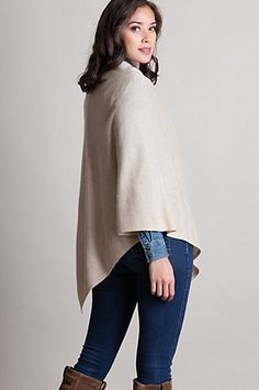 Fine knit cashmere yarn with a delicate ribbed knit border makes the perfect layer for transitional weather. Free shipping + returns.