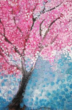 Painting diy tree cherry blossoms 48 Ideas for 2019 cherry blossom tree by t-r-bandit Part of a self-directed painting project I was going to add more objects and details to it, but I'm happy with it the way it is. Spring Painting, Dot Painting, Painting Canvas, Blossom Trees, Cherry Blossoms, Cherry Blossom Quotes, Cherry Blossom Painting, Spring Art Projects, Art Plastique