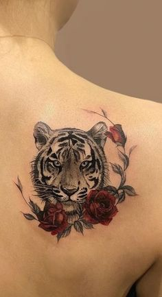 Tiger Tattoo Small, Lion And Rose Tattoo, Tiger Head Tattoo, Big Cat Tattoo, Mens Lion Tattoo, Small Tattoos, Small Lion Tattoo For Women, Dope Tattoos For Women, Rose Tattoos For Men