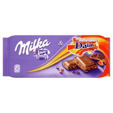 Milka Daim Chocolate Bar 100G - Groceries - Tesco Groceries