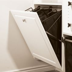 Wardrobe & Storage Fittings Tilt-Out Hamper, with Removable Black Bag, TAG Synergy Collection - order from the Häfele America Shop. Tilt Out Laundry Hamper, Tilt Out Hamper, Laundry Storage, Laundry Chute, Laundry Sorter, Laundry Baskets, Wardrobe Storage, Closet Storage, Closet Organization