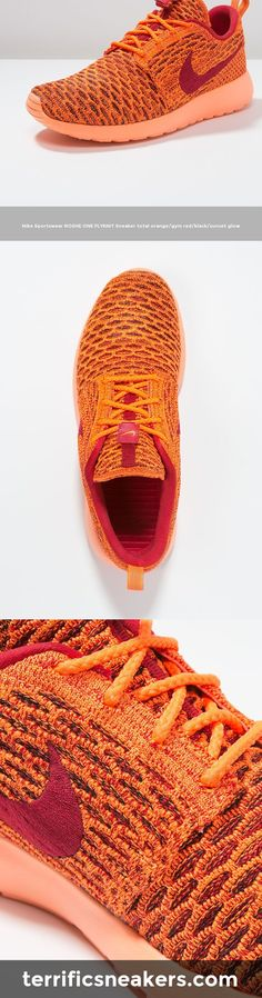 gorgeous Nike Sportswear ROSHE ONE FLYKNIT Sneaker total orange/gym red/black/sunset glow #Sneakers