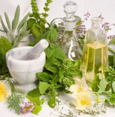 8 Herbal Cleaning Recipes:  Thyme Disinfectant, Herbal Disinfectant, Herbal All-Purpose, Mold & Mildew, For Walls, Multi-purpose, De-greaser, & Kitchen Cabinet De-greaser.