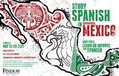 Study Spanish in Mexico by Kevin Collert, via Behance