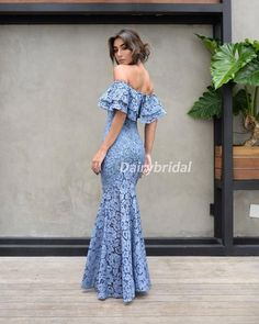 Off Shoulder Sexy Mermaid Prom Dresses, Lace Floor-Length Prom Dresses – Dairy Bridal Mermaid Prom Dresses Lace, Unique Prom Dresses, Mob Dresses, Ball Dresses, Short Dresses, Latest Dress Design, Fancy Dress Up, Prom Dress Shopping, Maid Dress