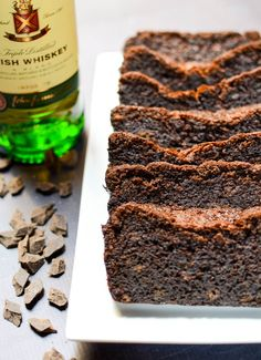 I made this puppy on Saturday night. Yep, Saturday PM, in the eve, late-night style. I know a city-slicker should be out doing city-slicking things, but you guys — I… Chocolate Loaf Cake, Chocolate Coffee, Rhubarb Zucchini Bread, Vanilla Bean Ice Cream, Irish Coffee, Baking Recipes, Amish Recipes, Kitchen Recipes, Pie Recipes