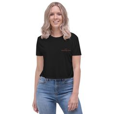 I hate poker. Fake News t shirt. Show summer a little love with this cropped flowy tee. It has a flattering modest-crop silhouette, and a beautiful design that highlights all that is amazing about living the crop top life. Cropped Tops, Cropped Shirt, University Outfit, Xl Shirt, Vegan Clothing, Vegan Fashion, Silhouette, Crop Tee, Trending Outfits