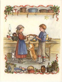 RARE Tasha Tudor Vintage Irene Dash Christmas Card MINT Condition EE74-18D in Books, Antiquarian & Collectible | eBay