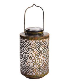 Another great find on #zulily! Bronze Abstract Geometric Solar Lantern #zulilyfinds
