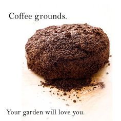 Coffee Grounds for your Garden -- * Sprinkle used grounds around plants before rain or watering, for a slow-release nitrogen. Add to your compost piles to increase nitrogen content and encourage microbial growth in the compost. Diy Garden, Dream Garden, Lawn And Garden, Garden Projects, Garden Plants, Garden Landscaping, Garden Soil, Garden Spaces, Spring Garden