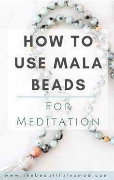 Interested in using mala beads as a tool in your meditation practice?Interested in using mala beads as a tool in your meditation practice? Zen Meditation, Meditation For Beginners, Meditation Benefits, Meditation Techniques, Meditation Practices, Yoga Benefits, Buddhism For Beginners, Chakra Meditation, Meditation Rooms