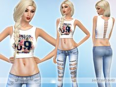The Sims Resource: London Soho Outfit by Saliwa • Sims 4 Downloads