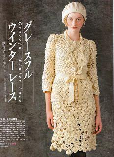 Crochet y Bebê: Conjunto saia e blusa em crochet!!! Wonderful!