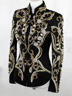 Equestrian Show Jackets, Vests, and Side Saddle Outfits - Lasting Impressions Western Show Clothes, Horse Show Clothes, Western Show Shirts, Moda Fashion, Womens Fashion, Showmanship Jacket, Show Jackets, Long Overcoat, Types Of Sleeves