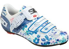 You have to really be a girly girl to wear flowered cycling shoes...but at least they're sidi.
