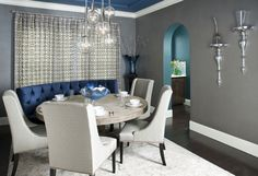 9 Grey Dining Room Digital Image for a Traditional Dining Room with a Drapes