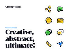 Grumpyicons - Communication Kit designed by Petr Bilek. Connect with them on Dribbble; the global community for designers and creative professionals. Communication, Icons, Kit, Creative, Ikon, Icon Set, Symbols