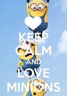 Minions keep calm Happy Minions, Cute Minions, My Minion, Keep Calm Carry On, Keep Calm And Love, Hakuna Matata, Think Happy Thoughts, Pusheen Cat, Minion Party