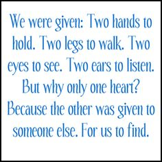 """""""WHY"""" Were We Only Given 1 Heart?? So We Go & Find AnOther One's Heart That Is Compatible With Ours"""