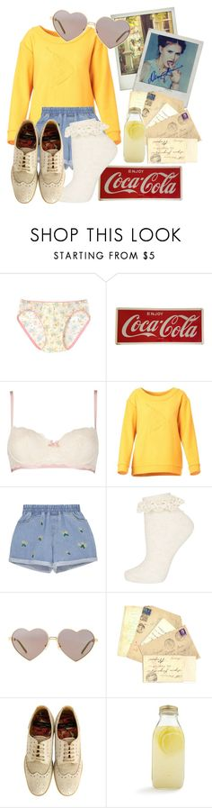 """Hufflepuff Nymphet"" by techtonic ❤ liked on Polyvore featuring Wacoal, Heidi Klum, Acephala, Topshop, Wildfox, Paul Smith, Bormioli Rocco and vintage"