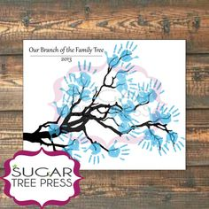 """""""Our Branch of the Family Tree"""" 11x14"""" DIY Handprint Tree.  Perfect gift for Father's Day!"""