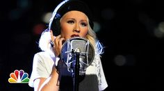 "Christina Aguilera and A Great Big World: ""Say Something""  - The Voice.  Absolutely beautiful - gently sung - Christina Aguilera is amazing in this. Very moving."
