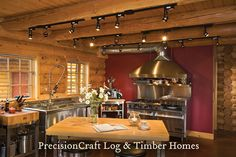 Custom Kitchen In A Milled Log