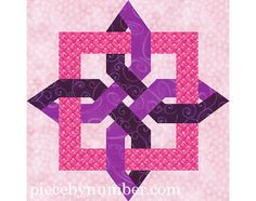 The Lugano Clover quilt block is a classic Celtic knot design, and this paper piecing quilt pattern includes clearly marked foundation patterns & assembly instructions to sew both variations shown. Coloring pages are also provided to make it easy and fun to plan out your colors before sewing.    The pattern pieces as given make 12 inch (30.5 cm) quilt blocks. For other sizes, enlarge the block using the percentages chart included. NOTE: Lugano Clover blocks smaller than 12 inches are NOT…