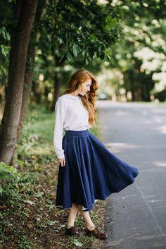 Classic Skirt, Bluebell