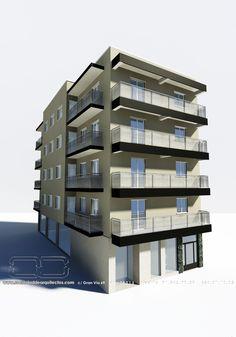 #Edificios #Moderno #Balcon #Exterior #Puertas #Dibujos #Fachada #Vidrio #Barandillas #Ventanas