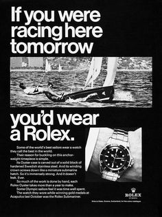'If you ... you'd wear a Rolex.' Adverts