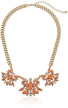 Peach Cabochon Statement Gold Tone Necklace, http://www.amazon.com/gp/product/B00HQDAR52/ref=as_li_tl?ie=UTF8&camp=1789&creative=390957&creativeASIN=B00HQDAR52&linkCode=as2&tag=asesto-20&linkId=73MDE2NK2HBHYLC7