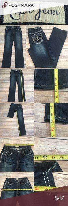 ☂Sz 4 Earl Jeans Dark Wash Bootcut Studded Pockets Measurements are in photos. Normal wash wear, no flaws. E2  I do not comment to my buyers after purchases, do to their privacy. If you would like any reassurance after your purchase that I did receive your order, please feel free to comment on the listing and I will promptly respond. I ship everyday and I always package safely. Thanks! Earl Jeans Jeans Boot Cut
