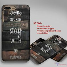 Harry Potter Book Quote - Personalized iPhone 7 Case, iPhone 6/6S Plus, 5 5S SE, 7S Plus, Samsung Galaxy S5 S6 S7 S8 Case, and Other