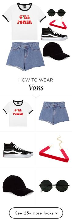"""""""The future is female"""" by kwithaleigh on Polyvore featuring Vans, Pink Stitch and Le Amonie"""